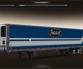 Blue Peterbilt trailer | ETS 2 Mods