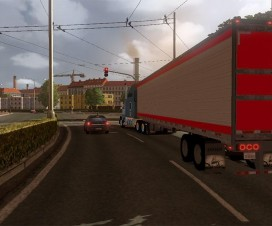 DC-Candy Apple Red & Silver American Trailer Skin v1 | ETS 2 Mods