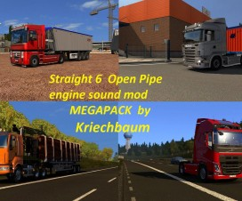 Open Pipe straight 6 engine sounds megapack | ETS 2 Mods