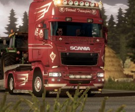 Scania Red & White Skin | ETS 2 Mods
