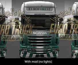 Scania R Skinnable Grill & Mirrors | ETS 2 Mods