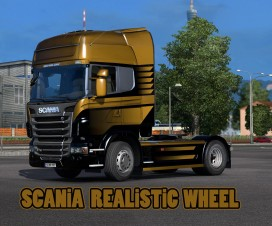 Scania Realistic Wheels 1.17 | ETS 2 Mods