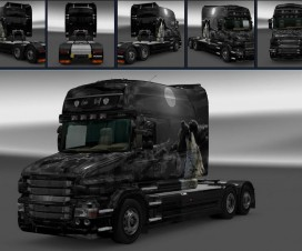 Scania T Lone Wolf Skin | ETS 2 Mods