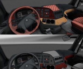 Wooden dashboard Mercedes MP III v1 | ETS 2 Mods