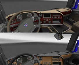 Wooden dashboard Scania R | ETS 2 Mods