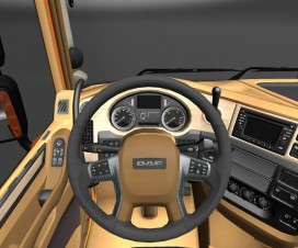 Interior DAF with leather wood and carbon