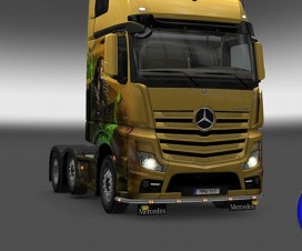 Bottomgrill mudflaps Mercedes Actros 1.18 | ETS 2 Mods