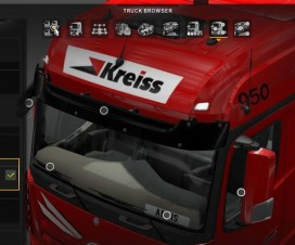 Colored interior lights for all Trucks upgrade | ETS 2 Mods