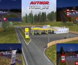 Fixed Real Gas Station 1.17.x and DLC | ETS 2 Mods