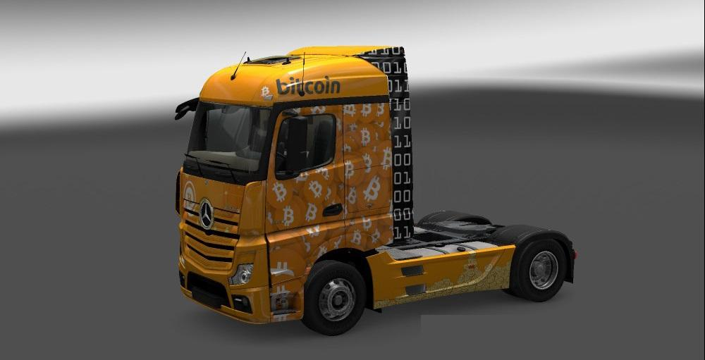Mercedes Actros MP4 2014 Bitcoin Skin | ETS 2 Mods