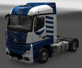 New Mercedes Interior and Skin Fan courier 1.18 | ETS 2 Mods