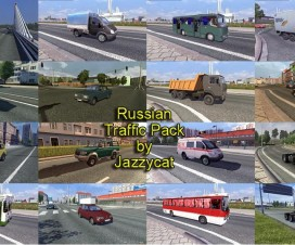 Russian Traffic Pack by Jazzycat v1.4 | ETS 2 Mods