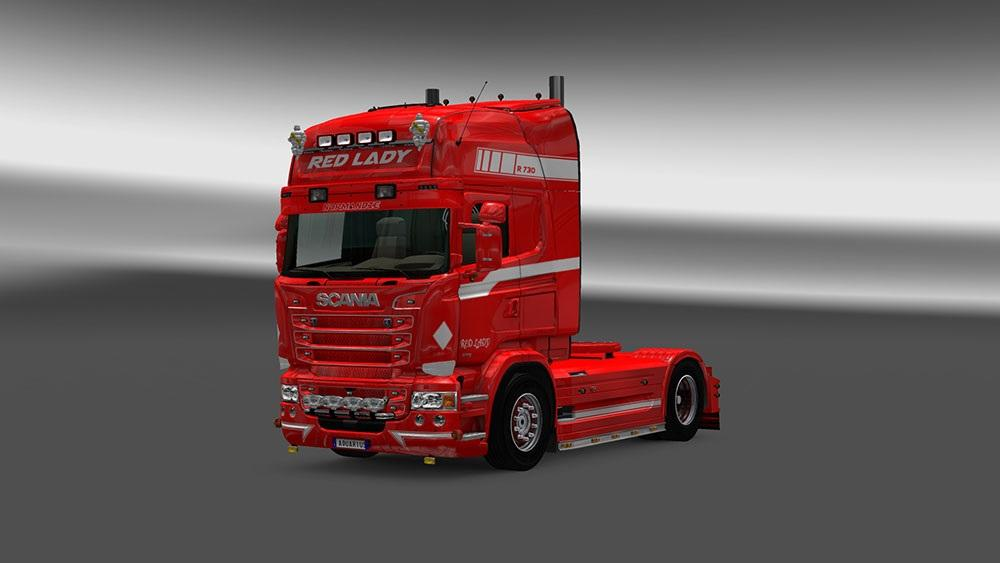 Scania RJL Red Lady Skin | ETS 2 Mods