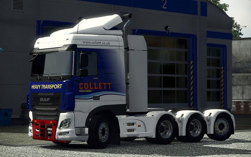 heavy haulage chassis addon for daf e6 1 1 2