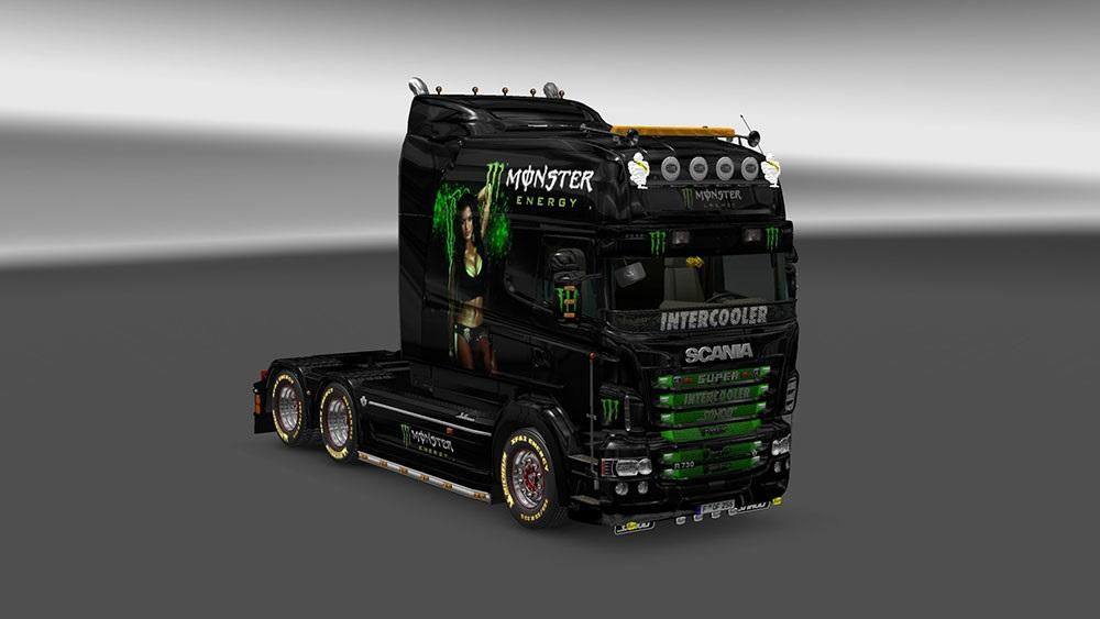 scania rjl exc monster energy skin 1