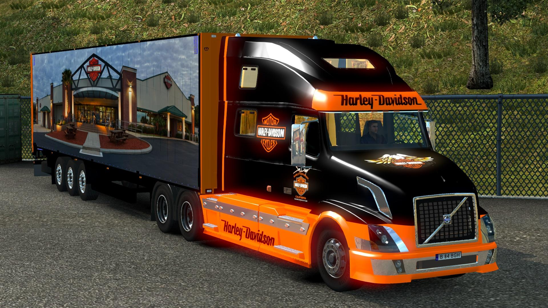 volvo vnl 780 harley davidson 17 trailer ets2 mods. Black Bedroom Furniture Sets. Home Design Ideas