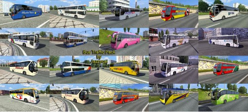 Bus Traffic Pack by Jazzycat v1 2 | ETS2 Mods