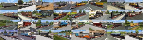 ETS2 Railway cargo pack by Jazzycat  v1.7.1