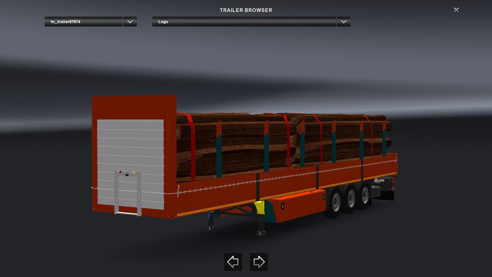 Log Trailer Fix Wheel 1.23 | ETS2 Mods
