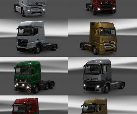 ets2 New Actros plastic parts and more