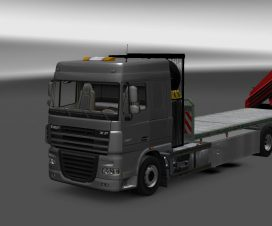 Daf xf flatbed with the trailer 1.23