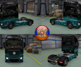 Mercedes Actros MP4 Fishes Skin