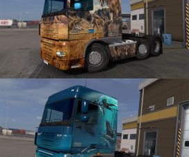 Prehistoric Paint Jobs Pack for DAF XF by 50k 1.24