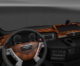 MAN TGX Black Brown Interior v1