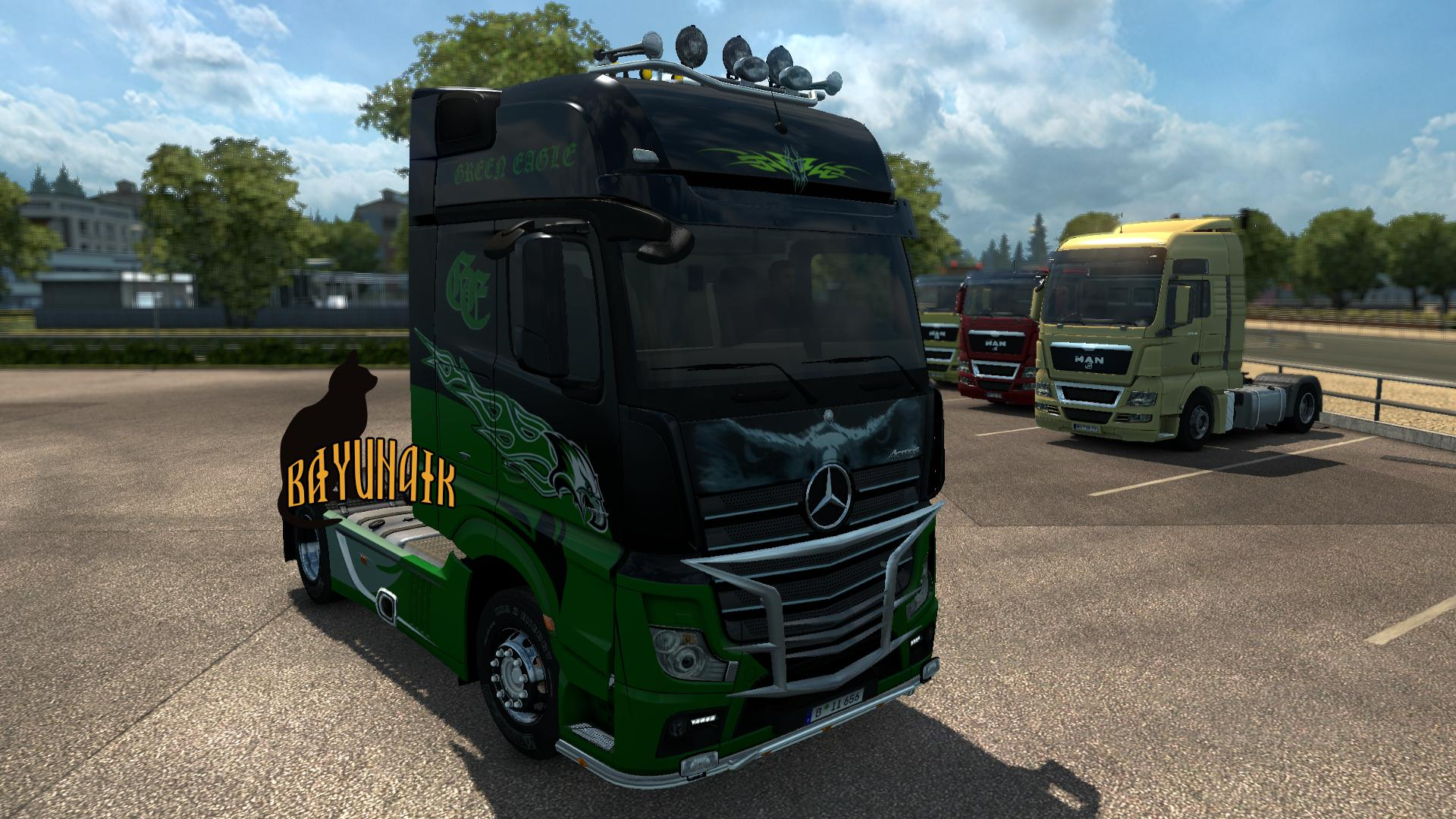Mercedes Benz New Actros Green Eagle skin 1.24