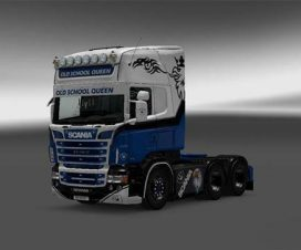 Scania RJL Old School Queen Skin 1.24