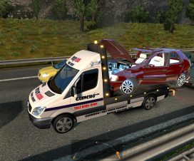 Spec Vehicles in traffic Tow trucks for 1.24