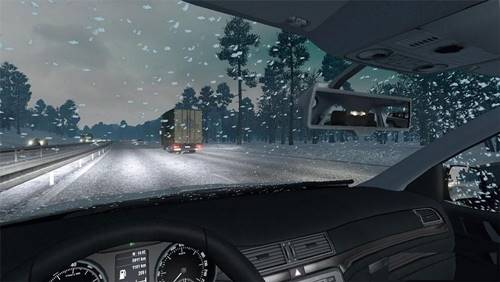 Real Snowfall Mod for Wintermods ETS2 1.25+