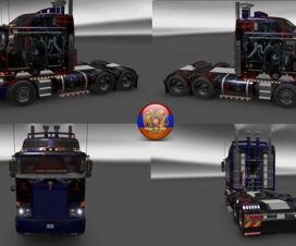 Kenworth K108-K200-W900 Long Metallic Abstraction Skin