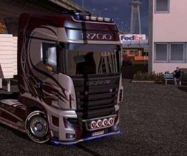 Scania R700 1.26 with DLC for Flags and Cabin Light