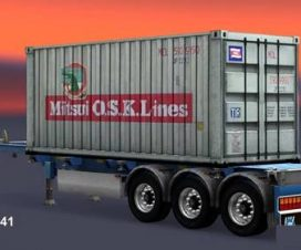 Trailer Container Mitsui O.S.K. Lines Old Logo