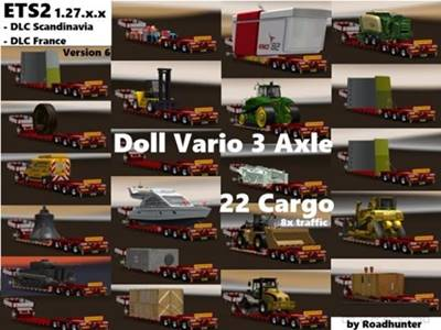 Doll Vario 3Achs with new backlight and in traffic v6