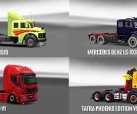 Pack 10.7 compt. Trucks with Powerful 10.4 1.26