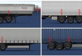Two Lifting Axes on Trailers