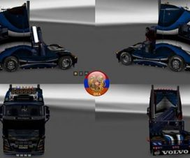 Volvo fh16 2013 Metallic Vector Skin Packs