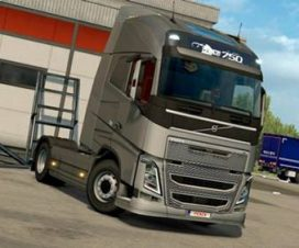 Gray grille all VOLVO FH 2012 engines ETS 2