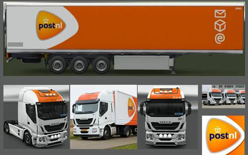 IVECO Stralis Hi-Way & Trailer (Postnl)