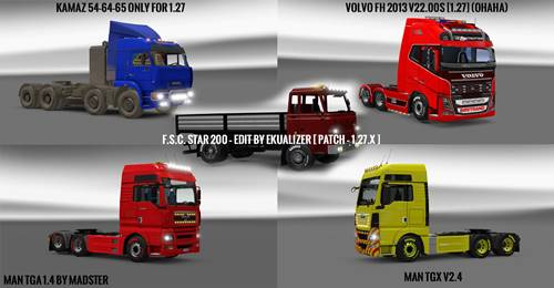Pack 10.9 compt. Trucks Powerful 10.5 ETS2 1.27