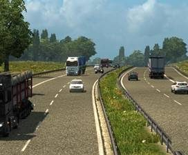 Realistic traffic density & moderate speed