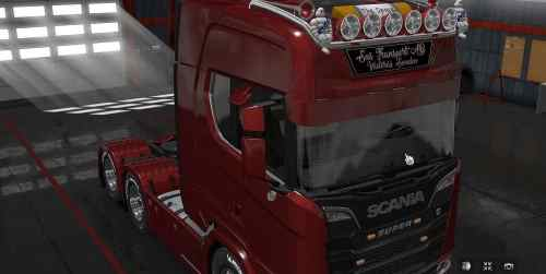 Extended Sunshield for Next Gen Scania 1.30