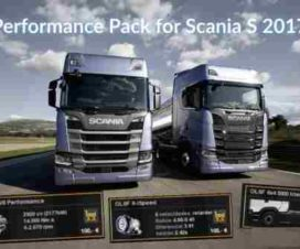 Performance Pack for Scania S 2017 (Engine + Gearbox + Fuel Tank)