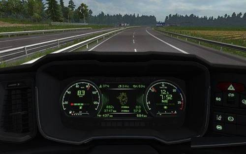New Scania Custom Dashboard Addon