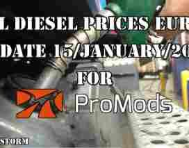 Real Diesel Prices Europe Promods v2.25