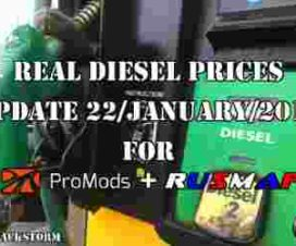 Real Diesel Prices Promods v2.25 & RusMap v1.8 (update 22-01-2018)