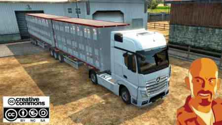 FLIEGL ANIMAL TRANSPORT TRAILER ETS2 1.28 – 1.30