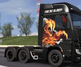 Mercedes Benz Actros 2014 – For The Glory! Paintjob 1.30